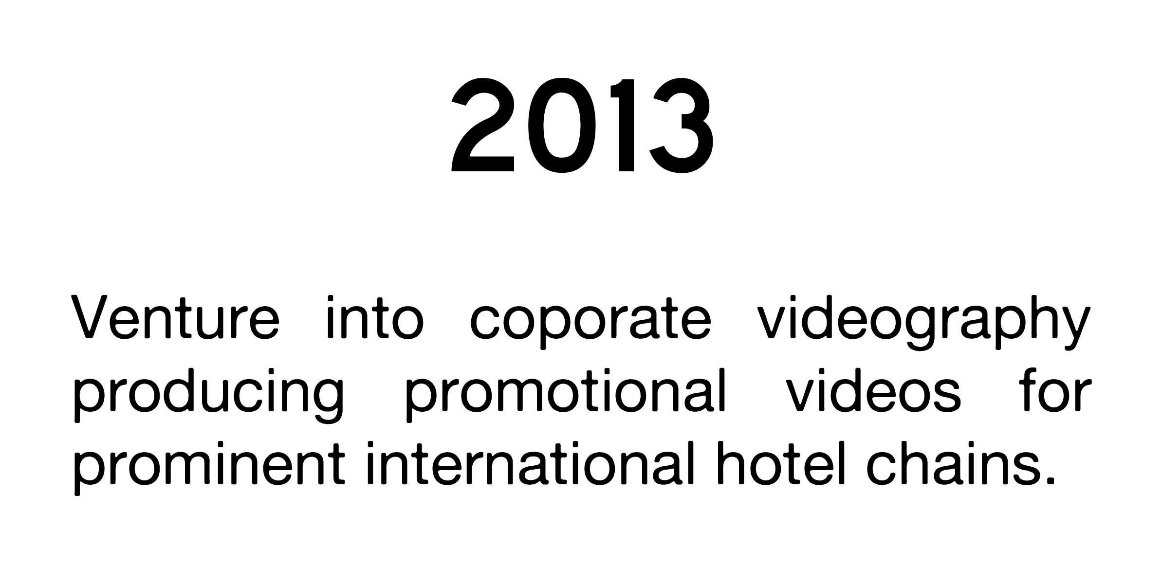 Corporate videography 2013