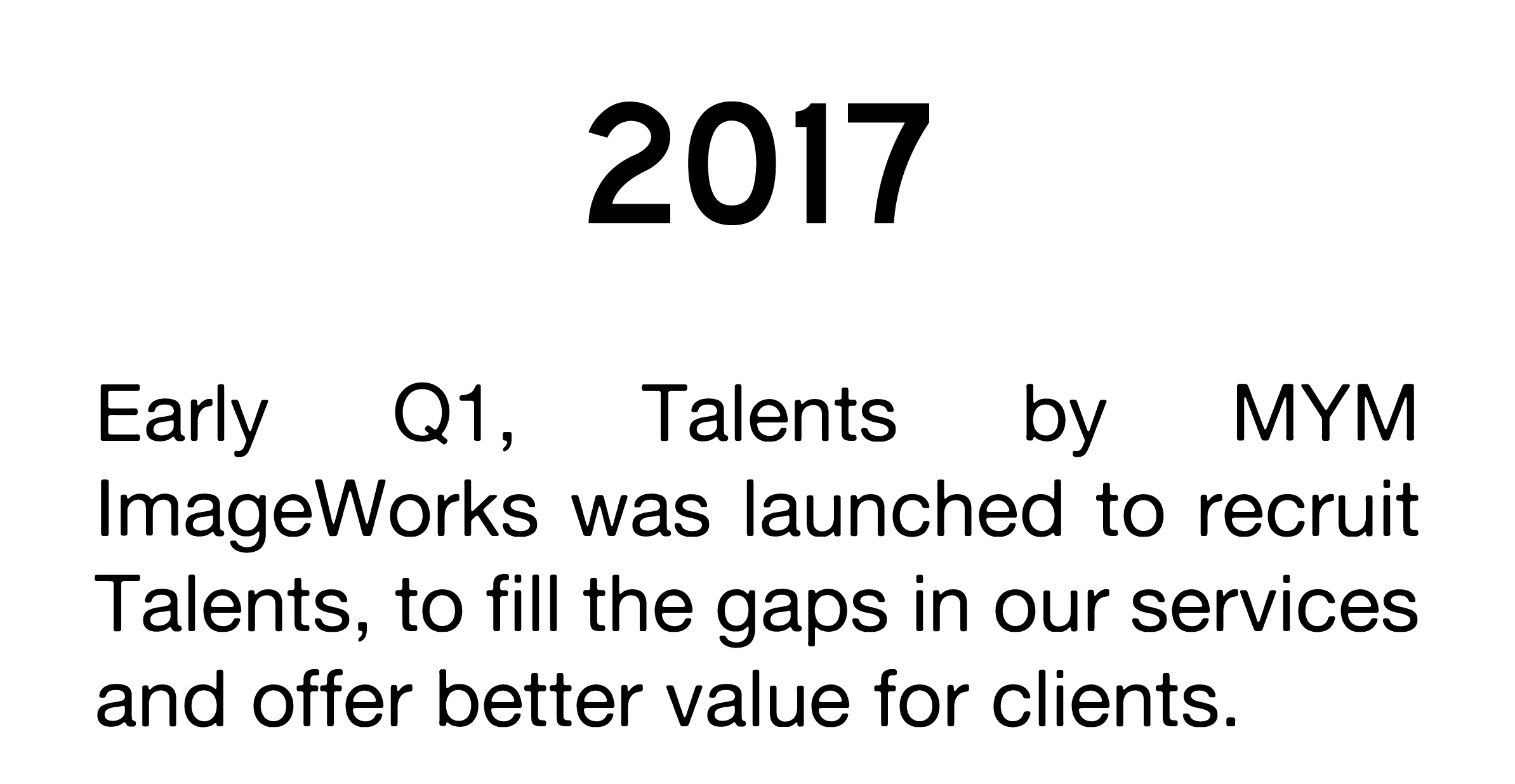 talents Establishment year 2017